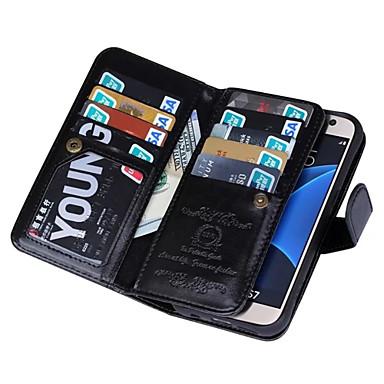 Için Samsung Galaxy S7 Edge Cüzdan Pouzdro Tam Kaplama Pouzdro Solid Renkli PU Deri Samsung S7 edge / S7 / S6 edge / S6 / S5 / S4