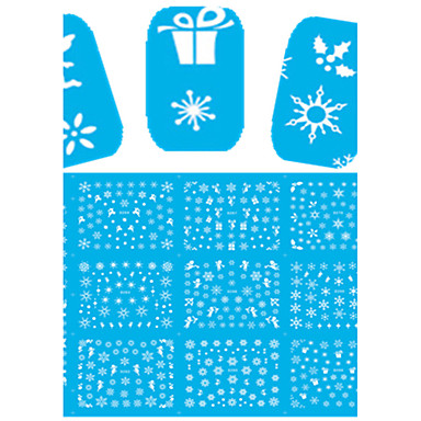 1 Nagelkunst sticker Halve nageltips Hele nageltips Bloem Cartoon Schattig make-up Cosmetische Nagelkunst ontwerp