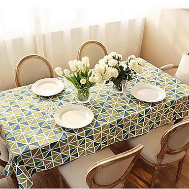Kvadrat Geometrisk Duge , 100% Bomull Materiale Hotel Middagsbord Dekorasjoner til hjemmet 1