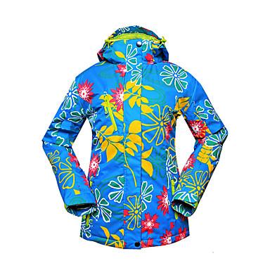 Dame Hold Varm Vindtæt Bomuld Polyester Skitøj Blomster / botanik Vintertøj Ski Snesport Snowboarding Vintertøj Vinter