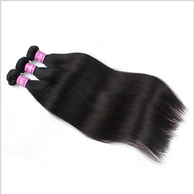Menneskehår, Bølget malaysisk hår Lige 3 Dele hår vævninger