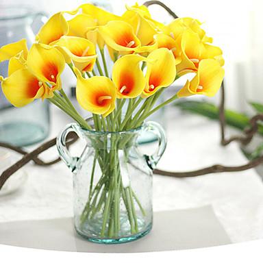 1 1 Afdeling Polyester / Plastik Calla-lilje Bordblomst Kunstige blomster 13.58inch/34.5cm
