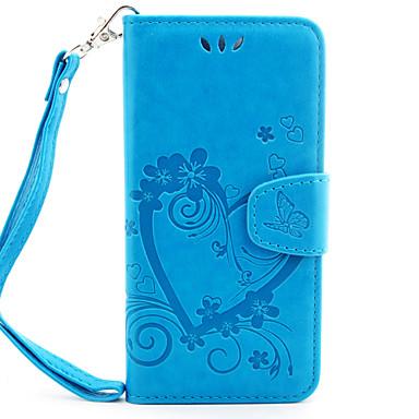Para Capinha iPhone 7 / Capinha iPhone 6 Porta-Cartão / Carteira / Flip / Com Relevo / Estampada / Magnética Capinha Corpo Inteiro Capinha
