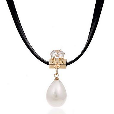 Dame Kort halskæde Halskædevedhæng Perle Stof Mode Justérbar Personaliseret Smykker Til Daglig Afslappet