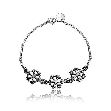 Damen Ketten- & Glieder-Armbänder Retro Modisch Sterling Silber Silberschwarz Geometrische Form Schmuck Hochzeit Party Alltag Normal