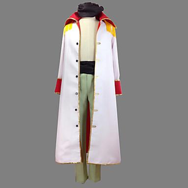 Inspirat de One Piece Edward Newgate Anime Costume Cosplay Costume Cosplay Peteci Geacă / Pantaloni / Centură Pentru Bărbați