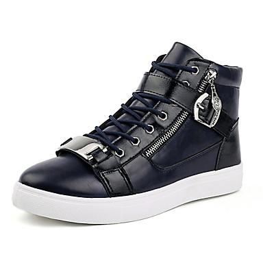 Støvler-PUHerre-Sort Blå Hvid-Udendørs-Flad hæl