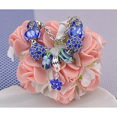 Damen Strang-Armbänder Modisch Perlenbesetzt Europäisch Glas Kreisform Schmuck Für