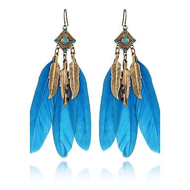 3 kleuren zomer bohemen vintage charme bladeren druppel oorbellen sieraden strass veren oorbellen voor vrouwen