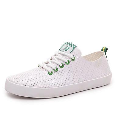 Fladsko-Kunstlæder-Komfort Gladiator Modestøvler-Dame-Sort Blå Grøn-Formelt Fritid Sport-Flad hæl