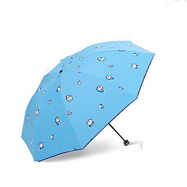 1 PCS pc tekstil Sol & Regn Sammenfoldet paraply