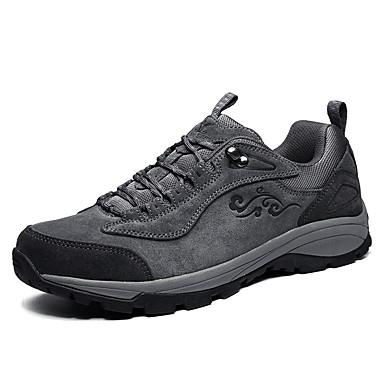Masculino Sapatos Couro Outono Inverno Conforto Tênis Aventura Rasteiro Presilha Para Casual Cinzento Khaki