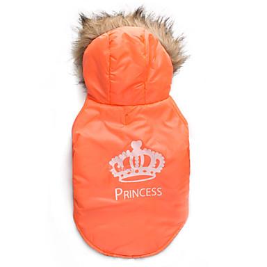 Katze / Hund Mäntel / Kapuzenshirts Hundekleidung Tiaras & Kronen Orange Baumwolle Kostüm Für Haustiere Herrn / Damen warm halten