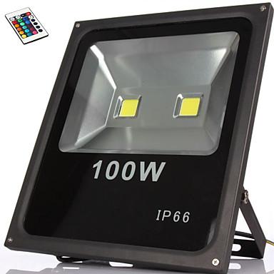 100w rgb IP66 afstandsbediening waterdichte geleid overstroming licht led lamp (85-265V)