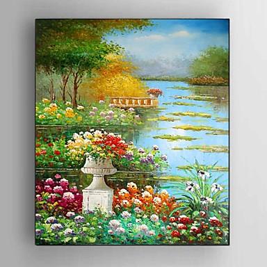 Håndmalte Landskap / Still Life / fantasi / Blomstret/Botanisk / Abstrakte Landskap olje malerier,Moderne /