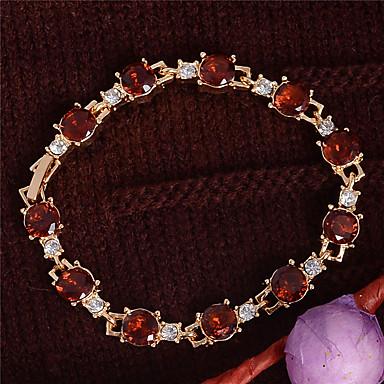 Armbånd Kæde & Lænkearmbånd Krystal / Guldbelagt Oval Shape Mode / Vintage / Yndig Bryllup / Party / Daglig / Afslappet / Sport Smykker