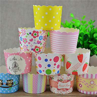 Aniversário Jogos de Mesa para Festas - Embalagens para Cupcake/Muffin Acessório para Bolo Pétala 100% Celulose Virgem Tema Clássico