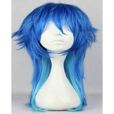 Synteettiset peruukit Suora Liukuvärjätyt hiukset Naisten Suojuksettomat Carnival Peruukki Halloween Peruukki Cosplay-peruukki