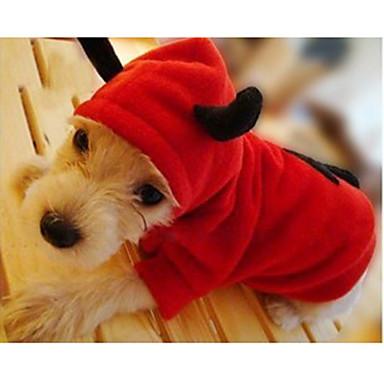 Gato Cachorro Fantasias Camisola com Capuz Roupas para Cães Fantasias Anjo e Diabo Vermelho Ocasiões Especiais Para animais de estimação