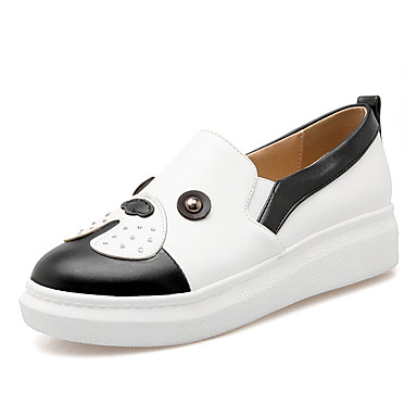Damen Schuhe Kunstleder Frühling Sommer Herbst Winter Komfort Sneakers Plattform Niete Glitter Für Normal Kleid Weiß Schwarz Rosa