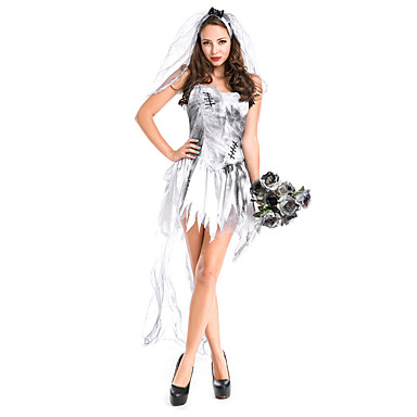 Spøgelse Zombie Vampyr Cosplay Kostumer Festkostume Kvindelig Festival/Højtider Halloween Kostumer Halloween Jul Karneval Vintage