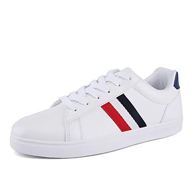 Masculino sapatos Courino Primavera Verão Outono Inverno Tênis Cadarço Para Atlético Casual Branco Preto