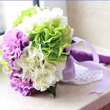 1 Afdeling Polyester Plastik Hortensiaer Bordblomst Kunstige blomster