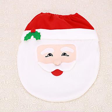 1pc Weihnachten Weihnachtsmann Dekoration Badezimmer Toilettendeckel Sitzinnen zu Hause versorgt