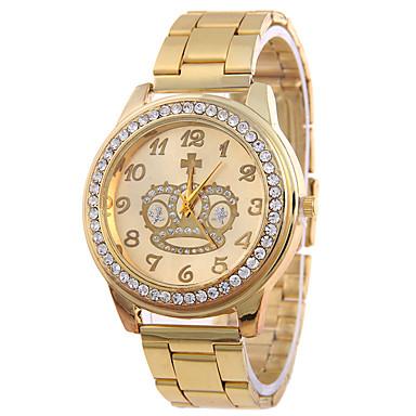 Heren Gesimuleerd Diamant Horloge Modieus horloge Kwarts / Legering Band Informeel Zilver Goud