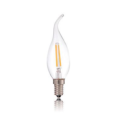 2w e14 led gloeilampen ca35 2 kolf 180lm warm wit koud wit 2700-6500k decoratief ac 220-240v