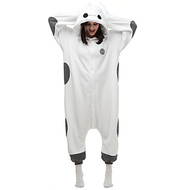 Kigurumi-pyjamas Hvid Max Onesie-pyjamas Kostume polyester Cosplay Til Voksne Nattøj Med Dyr Tegneserie Halloween Festival / Højtider