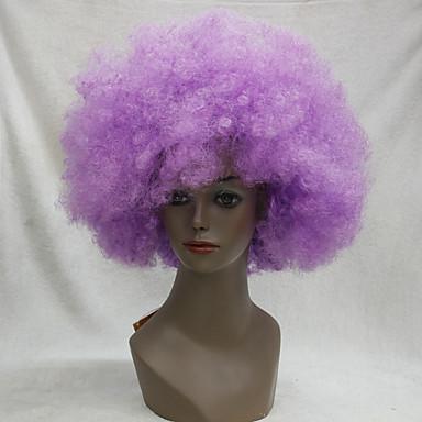 Cabelo Sintético perucas Afro Crespo Cacheado Peruca de carnaval Peruca de Halloween Peruca para Cosplay Roxo