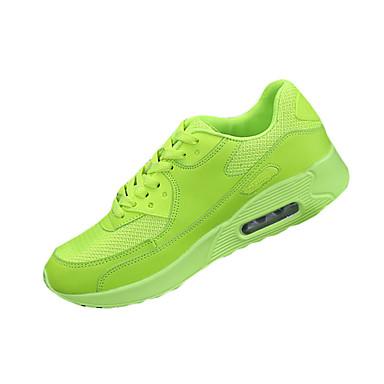 Unissex Tênis Conforto Tule Primavera Outono Casual Caminhada Conforto Cadarço Rasteiro Preto Vermelho Verde Rasteiro