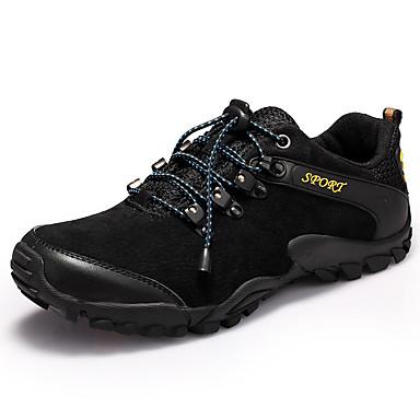 Masculino-Tênis-Conforto-Rasteiro-Preto Azul Amarelo-Camurça-Casual
