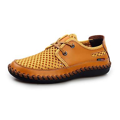 Herre Flate sko Tyll Sommer Avslappet Gange Flat hæl Mørkeblå Brun Gylden Flat