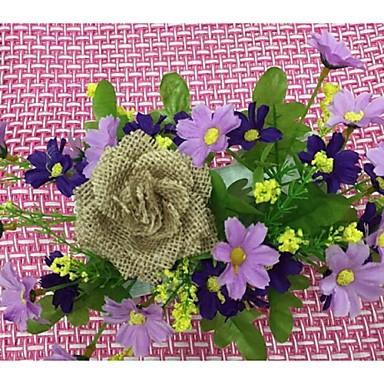 Jute Bryllup Dekorationer-1piece / Set Kunstig blomst Fødselsdag / Forlovelse / Bryllup Havetema Brun Forår Ikke-personliggjortTilfældig