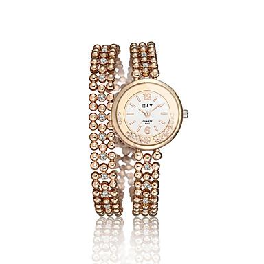 Dames Dress horloge Modieus horloge Kwarts / Legering Band Vintage Informeel Goud