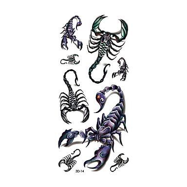 Tatoveringsklistremerker Dyre Serier Ikke Giftig Mønster Vanntett 3DDame Herre Voksen Flash-tatovering midlertidige Tatoveringer