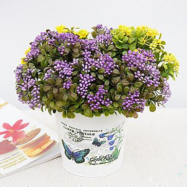 1 1 ブランチ ポリエステル / プラスチック 植物 テーブルトップフラワー 人工花 11.8inch/30cm