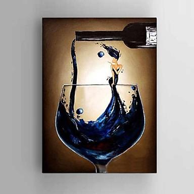 Hånd-malede Abstrakt Landskab Sille Liv Fantasi Abstrakt Landskab Vertikal,Moderne Middelhavet Parfumeret Europæisk Stil Et Panel Kanvas
