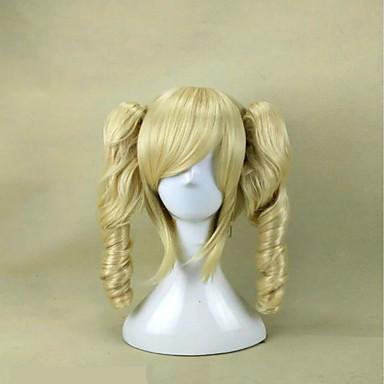 Vrouw Synthetische pruiken Zonder kap Krullend Zwart Bruin Blond Blauw Roze Cosplaypruik Kostuumpruiken