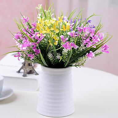 1pc 1 Tak Polyester / Kunststof Overige Bloemen voor op tafel Kunstbloemen 11.8inch/30CM