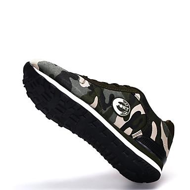 Dame Flate sko Komfort Tekstil Vår Høst Avslappet Gange Komfort Flat hæl Grønn Flat