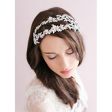 Strass Aleación Tiaras Stirnbänder Blumen Kränze 1 Hochzeit Besondere Anlässe Kopfschmuck