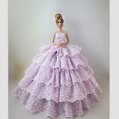 Festa/Noite Vestidos Para Boneca Barbie Vestidos Para Menina de Boneca de Brinquedo