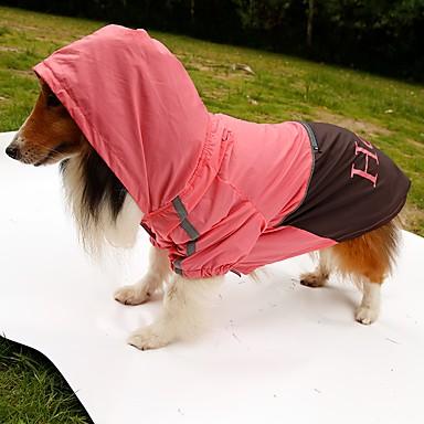 Cachorro Capa de Chuva Roupas para Cães Carta e Número Laranja Amarelo Verde Rosa claro Náilon Ocasiões Especiais Para animais de
