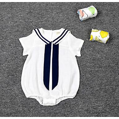 Baby Overall og jumpsuit Bomuld Ensfarvet Afslappet/Hverdag Sommer,