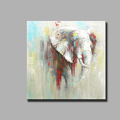 Pintados à mão Abstrato Animais Quadrada, Clássico Modern Tela de pintura Pintura a Óleo Decoração para casa 1 Painel