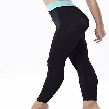 Dame Yogabukser - Rose Rød, Grønn, Blå sport Bukser Yoga & Danse Sko Sportsklær Pustende, Komprimering Elastisk