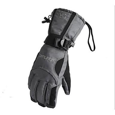 Herre Cykelhandsker Skihandsker Fuld Finger Hold Varm Vandtæt Vindtæt Slidsikkert Aktivitets- / Sportshandsker Bomuldsfiber Ski Handsker
